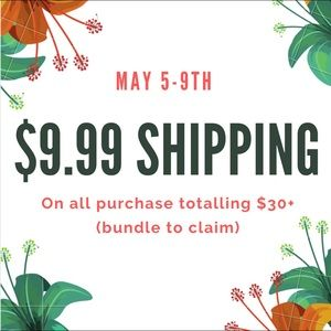 Limited Time Offer! May 5-9th only!